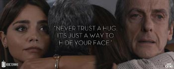 Doctor Who Never trust a hug