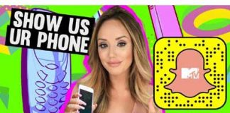 MTV's Show Us Ur Phone, on Snapchat