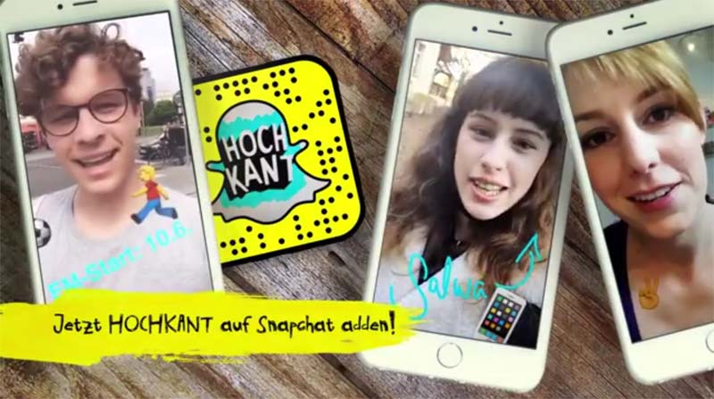 RBB's Hochkant Snapchat news service for teens